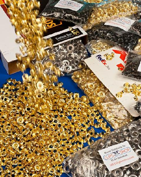 Buy grommet brass grommets nickel grommets banner grommets ClipsShop self-piercing metal grommets